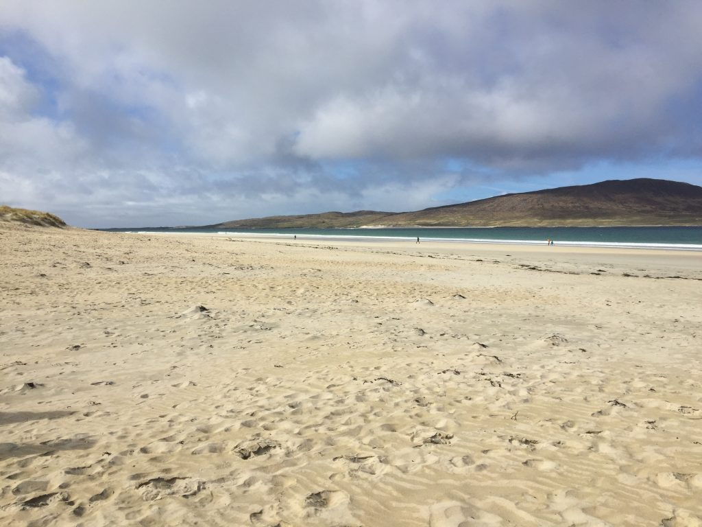 Luskentyre Beach, easily reached from the cottage by car